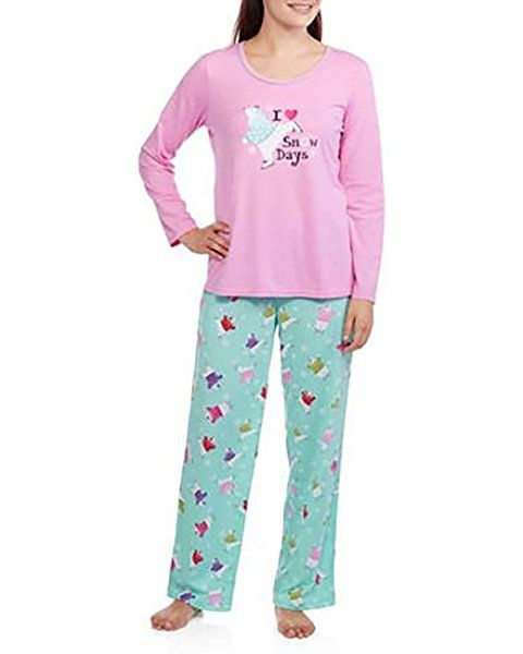 Secret Treasures Christmas Ugly Sweater Polar Bear 2-piece Pajama Set  047f63c61