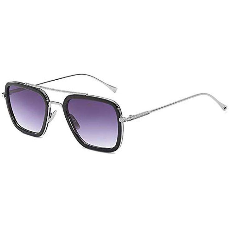 Sonnenbrille Flieger Look silber Metal Gothic