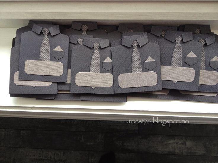 Kristinas kortblogg: Tutorial på bordkort formet som skjorter