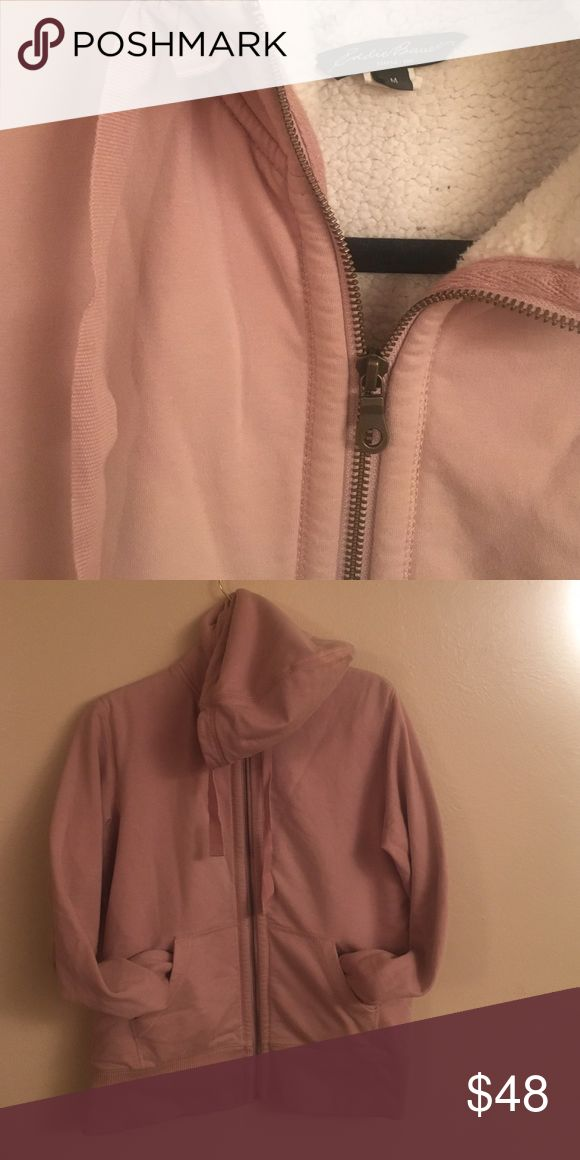 Rosey Eddie Bauer Coat Super duper mega soft exterior, faux fur lined inside. Amazingly warm and great quality. Light rose pink color on the outside (first picture shows the shade the best) and off white on the inside. Brand new condition. Eddie Bauer Jackets & Coats