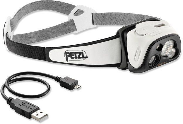 """<a href=""""http://bzfd.it/21nHkfH"""" target=""""_blank"""">Petzl - TIKKA RXP headlamp</a> ($99) automatically adjusts brightness to the environment and optimizes battery life."""