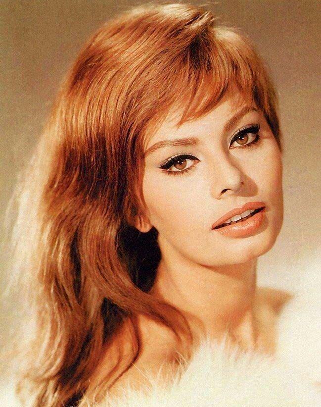 Sophia Loren even looks beautiful in red hair!