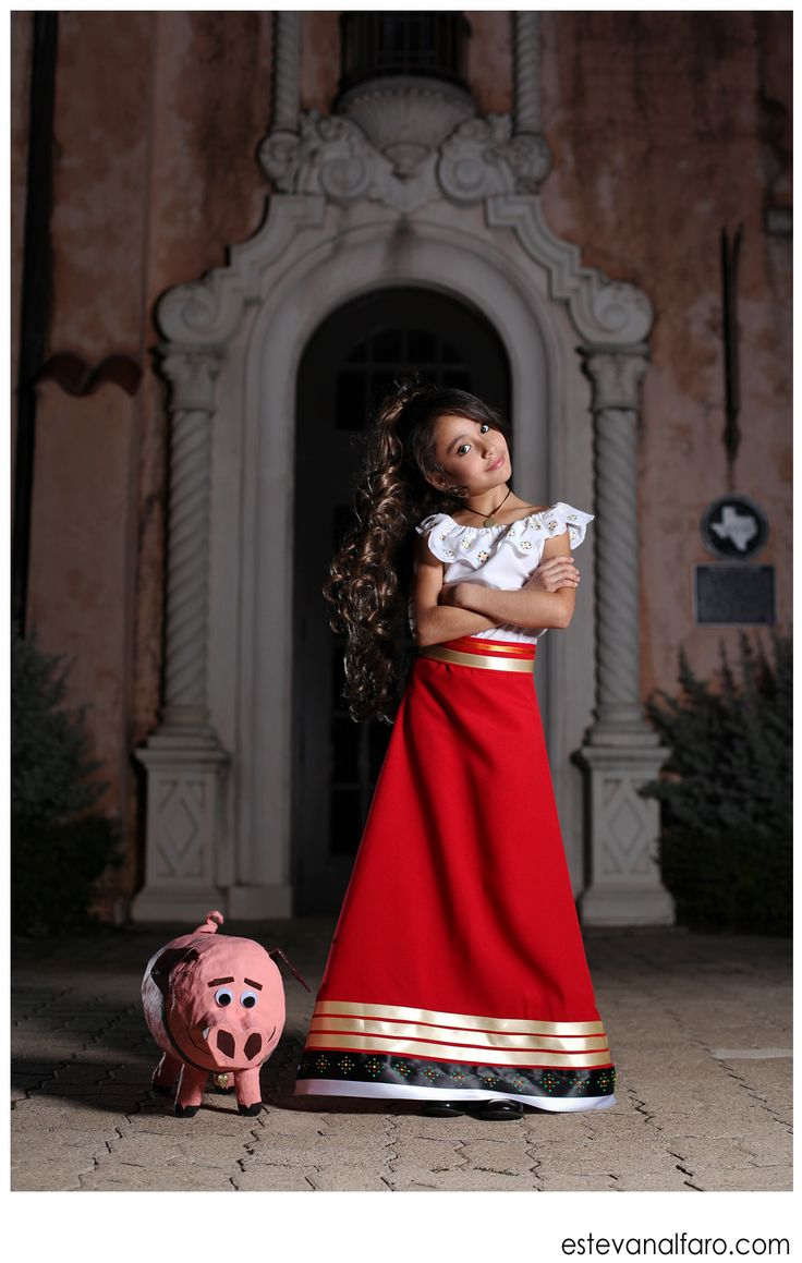 DIY Handmade Halloween Costume of Maria and her Chuy from the movie Book of Life