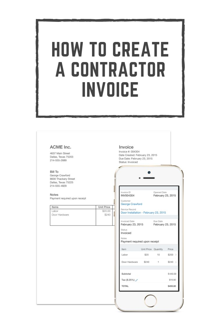 How to create a contractor invoice contractors hvac