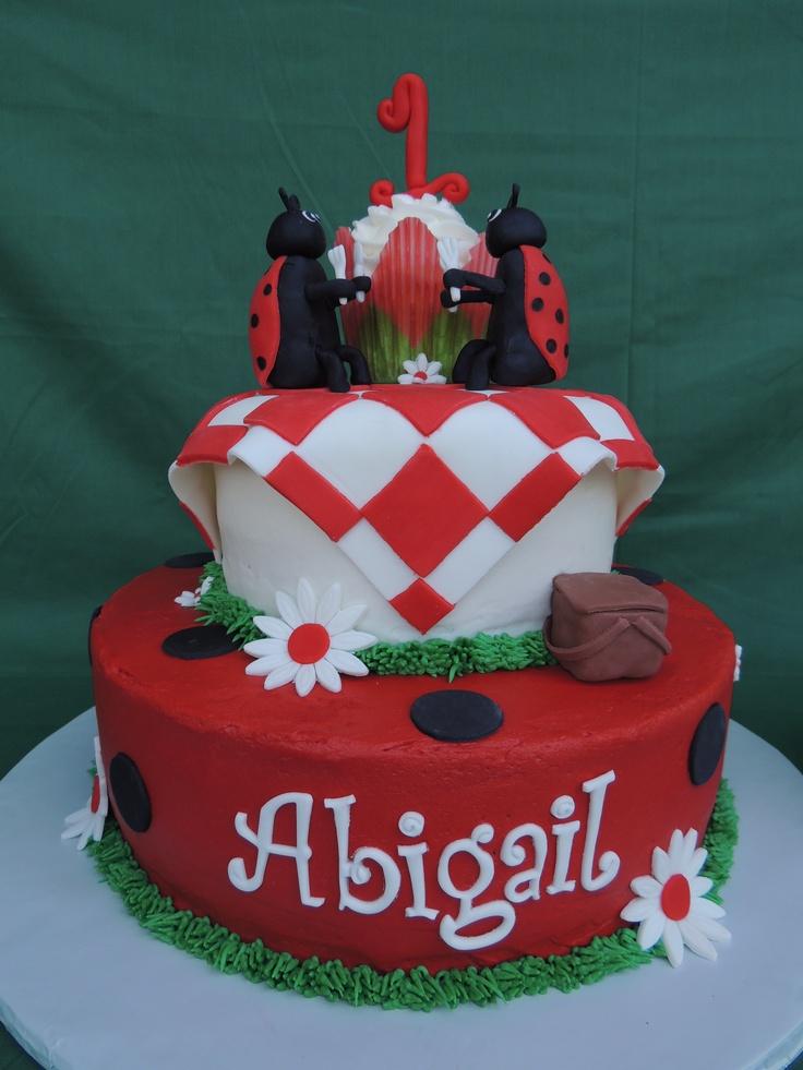 Ladybug Picnic Cake