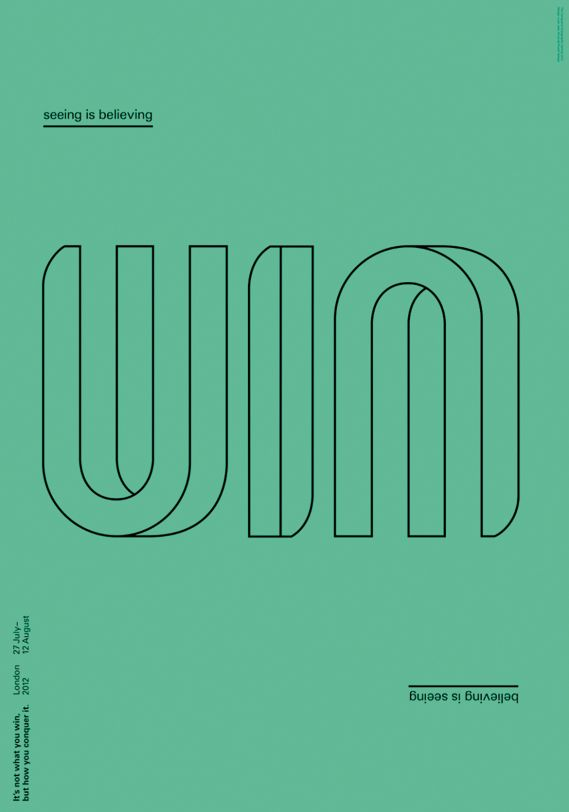 'Win', by By Liam Jeal - one of the entries in The Conqueror Typographic Games…