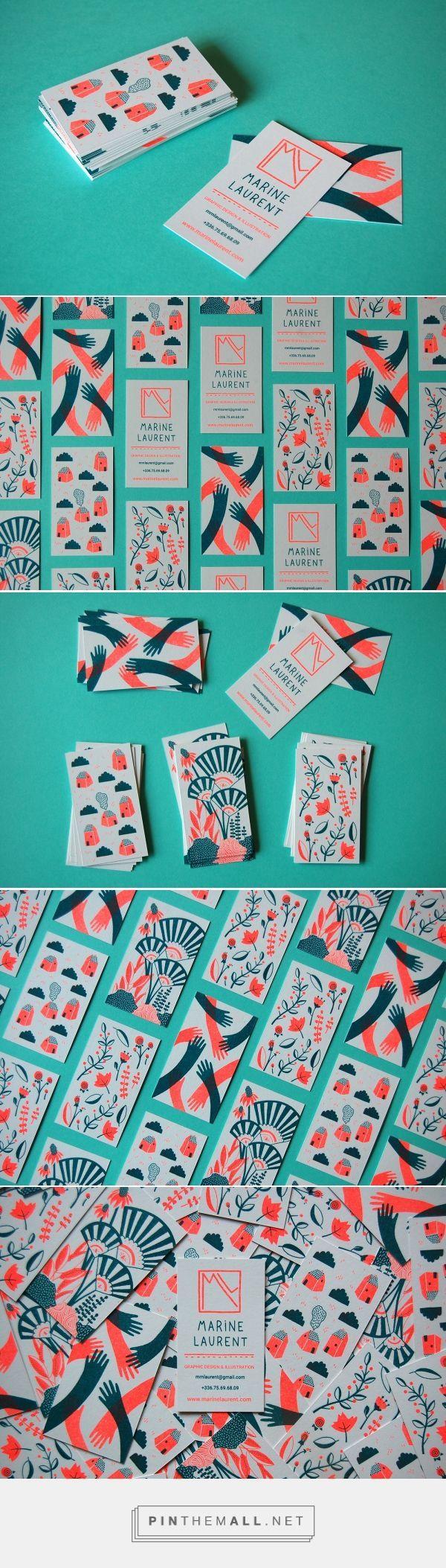Marine Laurent Business Card Design (Designer Unkown) | Fivestar Branding Agency – Design and Branding Agency & Curated Inspiration Gallery