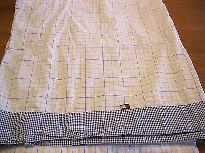 Tommy Hilfiger Elizabeth Anne Plaid Full Double Flat 100% Cotton Sheet