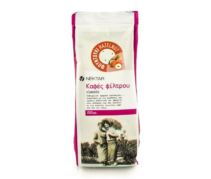Ground coffee with hazelnut taste and intense aroma. Packed in protective atmosphere, just after roasting, with fragrance safety valve that allows the coffee to release gases which were trapped during roasting, while at the same time prevents the entry of air, keeping it fresh for longer.