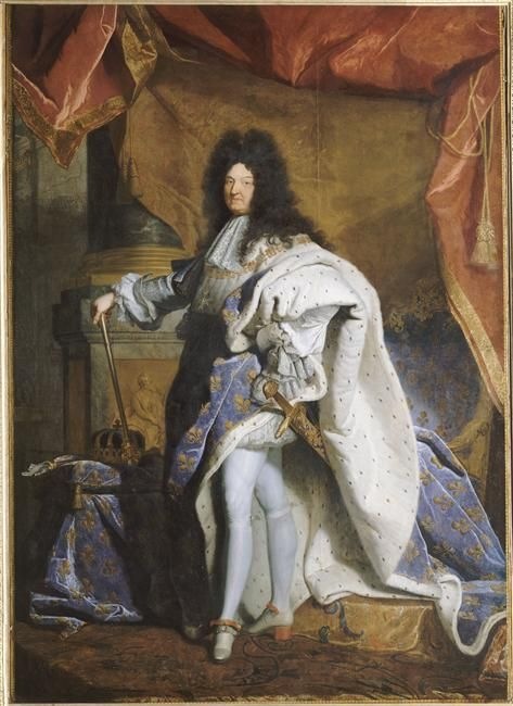Versailles, châteaux de Versailles et de Trianon -  Portrait en pied de Louis XIV âgé de 63 ans en grand costume royal (1638-1715) Par Rigaud Hyacinthe (1659-1743) (atelier de), 1701