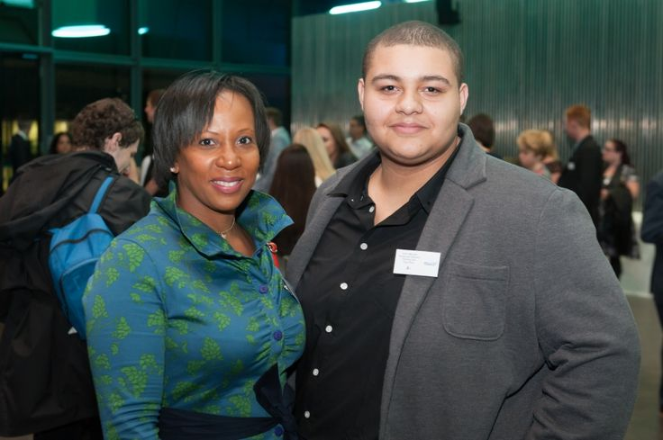 Y&T Director Suzann McLean and Tyler Mitchell at the Jack Petchey Crystal Awards October 2015