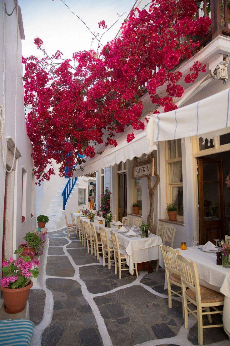 Dinner in Mykonos Town, Greece