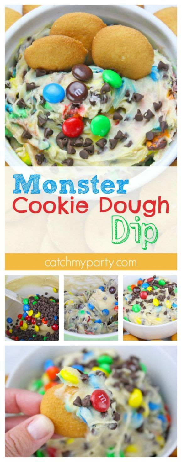 Monster Cookie Dough Dip perfect for summer partie…