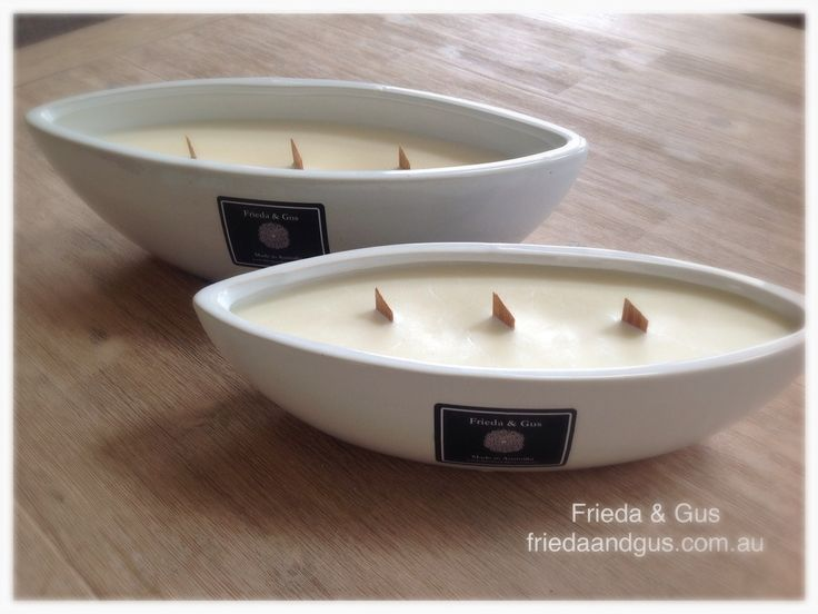 BOAT Ceramic Soy Candle Wood Wick 80hr+ burn time - Frieda & Gus Soy Candles