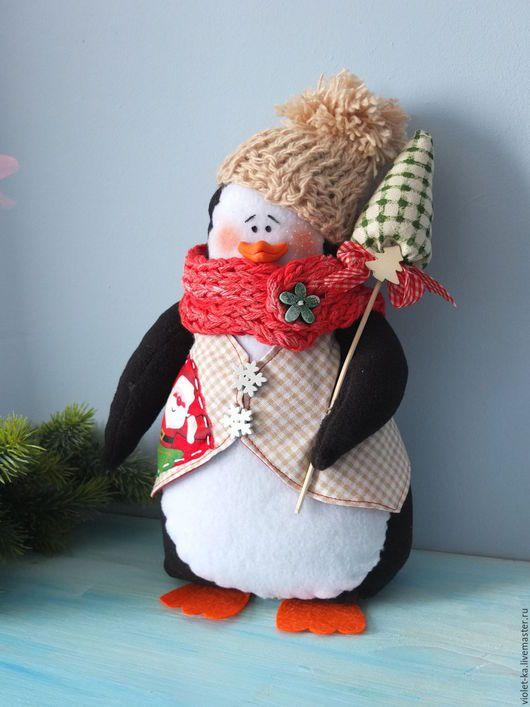 Новый год 2017 ручной работы. Ярмарка Мастеров - ручная работа. Купить Пингвин. Handmade. Комбинированный, пингвинчик