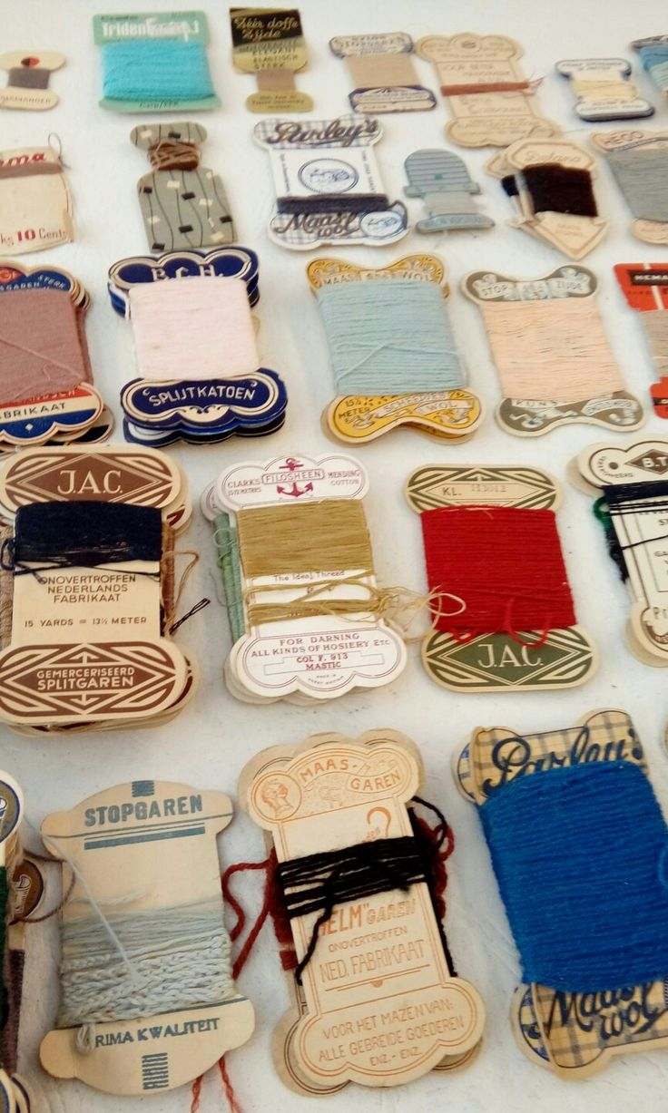Vintage sewing threads.