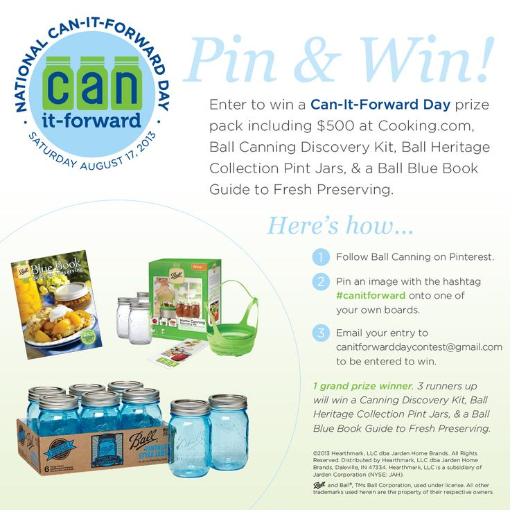 Enter to win a Can-It-Forward Day prize pack including $500 at Cooking.com, Ball Canning Discovery Kit, Ball Heritage Collection Pint Jars, and a Ball Blue Book Guide to Fresh Preserving! #canitforward