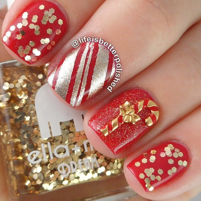 67 best Nail Art: Winter/Holiday manicures images on Pinterest ...