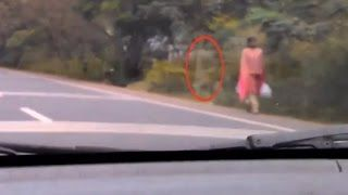 Ghost Following Lady Horrible Ghost Video | Scary Videos | Ghost Sightings