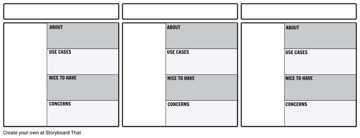 Create a storyboard template or graphic organizer template for your students. Provide students with a headstart for a project on Storyboard That's storyboard software