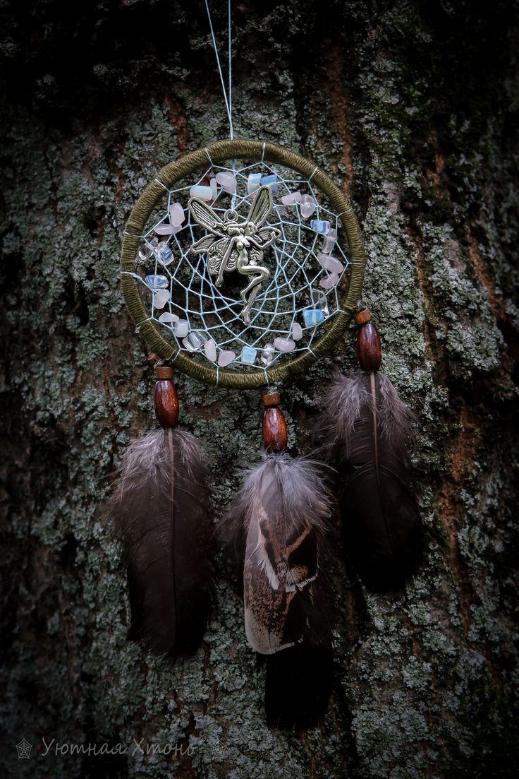 'Faery in the spiderweb' dreamcatcher
