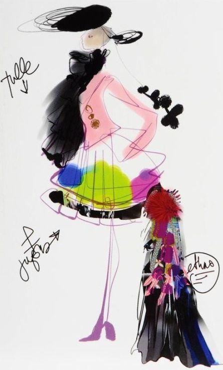 Design & Fashion illustration by Christian Lacroix,