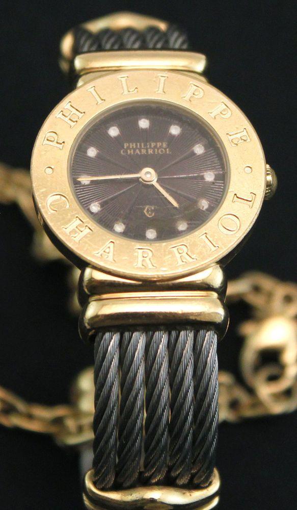 Philippe Charriol Saint Tropez Two Tone Cable Ladies Wrist Watch #Charriol #Dress