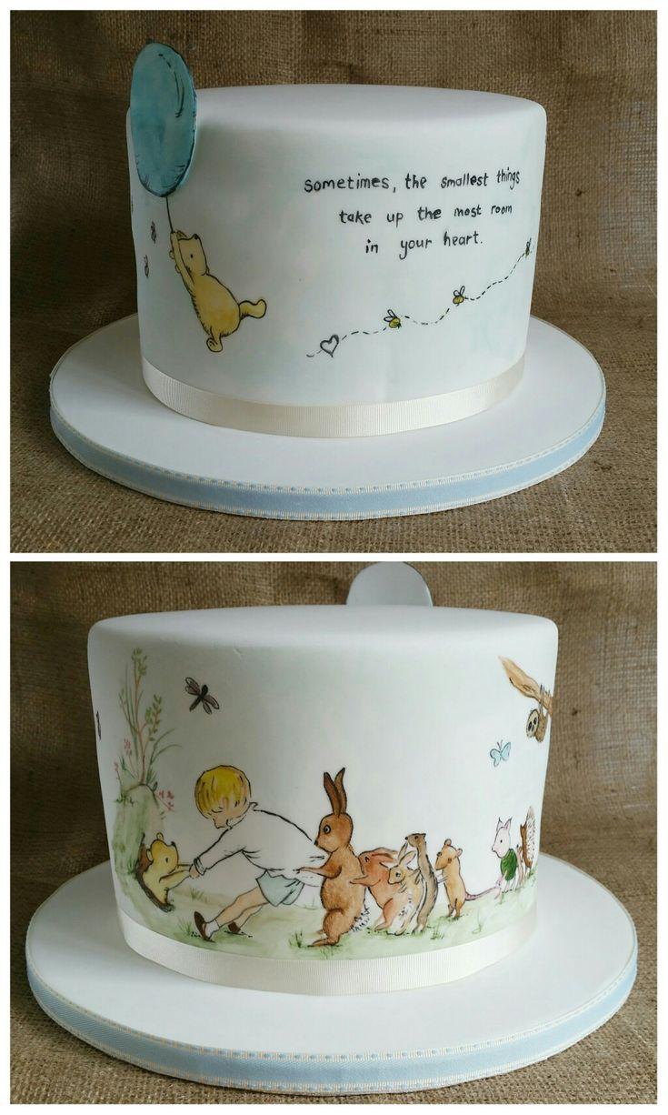 Winnie the Pooh baby shower cake. ☺️