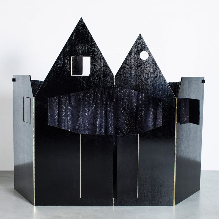 Robbrecht en Daem designs sombre-coloured puppet theatre influenced by fairytale castles