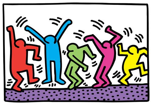Untitled by Keith Haring - art print from Easyart.com