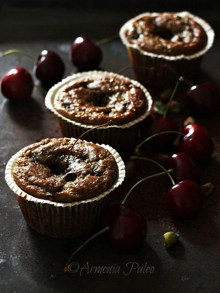 Muffins con Ciliegie e Pistacchi
