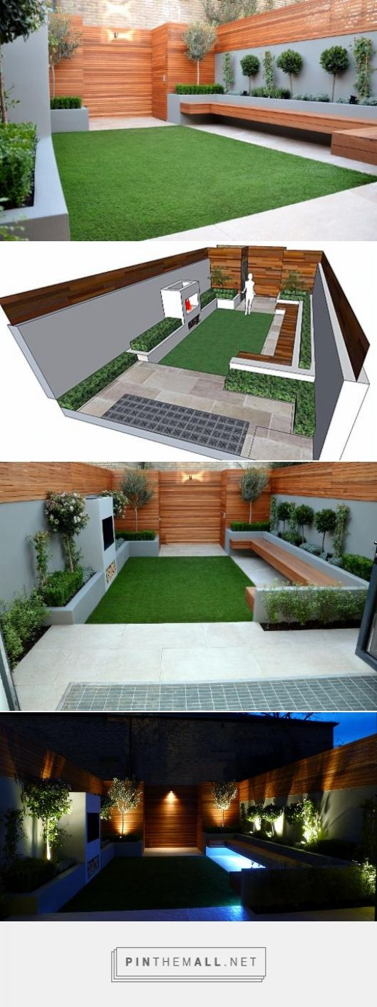 #Modern New Garden Design London 2015 - Anewgarden Decking Paving Design Streatham Clapham Balham Dulwich Chelsea #garden #landscape # design #outdoor #backyard #London_2015 #حدائق #تصميم #حدائق2015 #أفكار