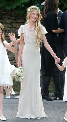 Image result for kate moss wedding dress bridesmaids