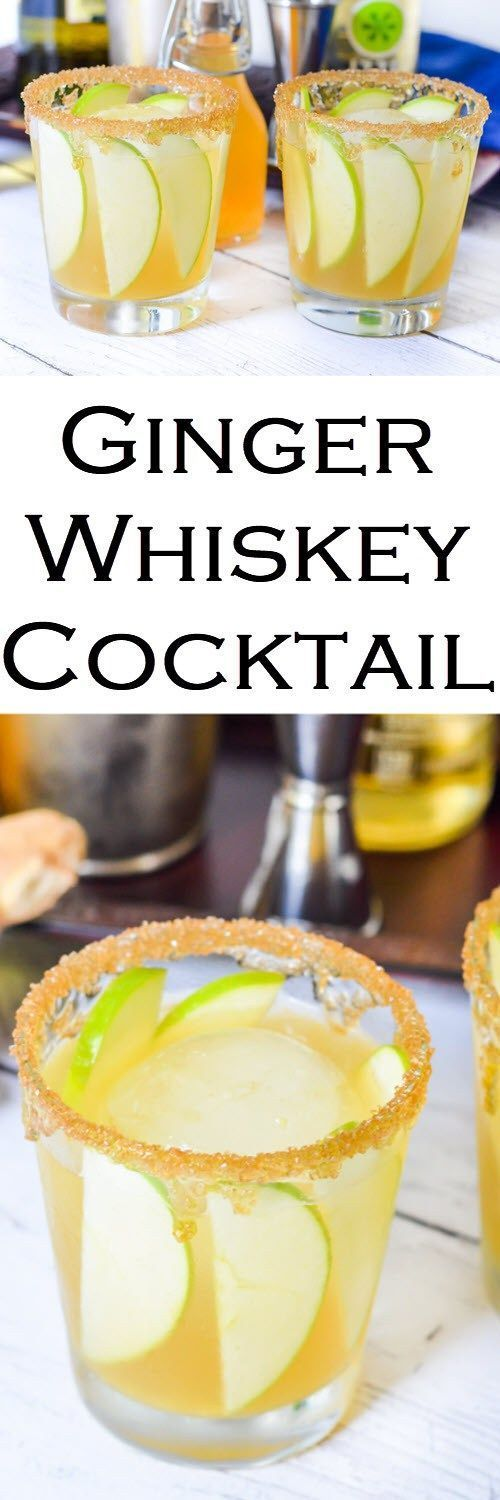 Ginger whiskey cocktail