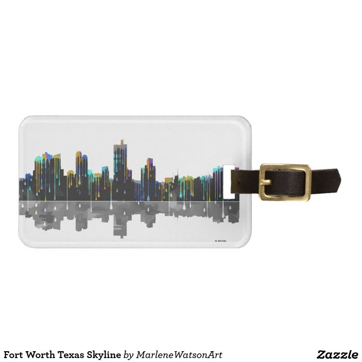 Fort Worth Texas Skyline Tag For Luggage