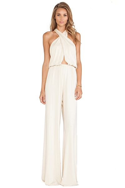 35 gorgeous pantsuits and jumpsuits for brides rachel pally for Wedding dresses for tomboy brides