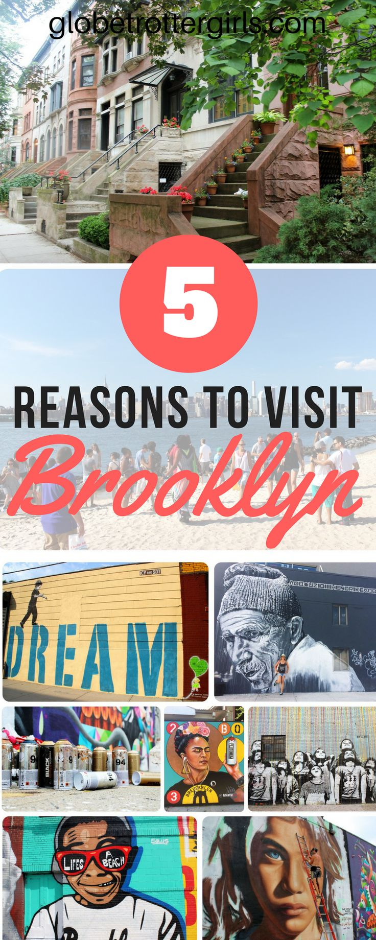 Five Reasons to Spend a Day in Brooklyn on a Visit to New York. It wasn't Manhattan that made me fall for New York – it was Brooklyn that made me fall in love with the 'Big Apple' - because there are so many different neighborhoods to see, cool spots to stumble upon and hidden gems to discover. Brooklyn is a must visit on any trip to New York City. | Globetrotter Girls