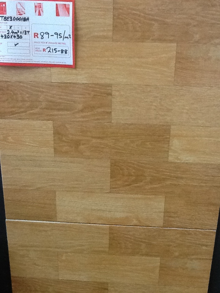 Wood lookalike tiles