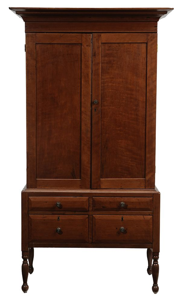 Southern Federal Cherry Press Cupboard Possibly Kentucky, Early 19th  Century, Two Case Construction · Country FurnitureAntique ...