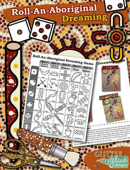 ROLL-AN-ABORIGINAL-DREAMING GAME - MULTICULTURAL COLLAGE ART ACTIVITY! - TeachersPayTeachers.com