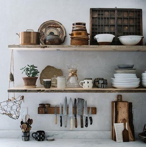 Very rustic shelf.