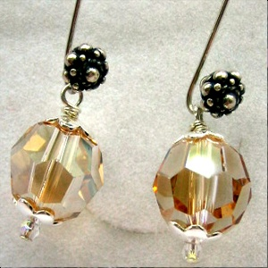 Earrings sterling silver 925 with Swarovski pearl