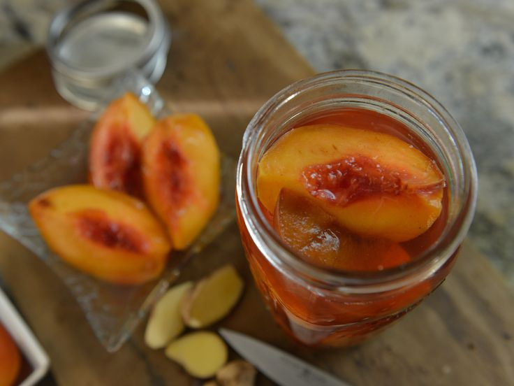 YES!!!!! MAKE! Pickled Peaches recipe from Damaris Phillips via Food Network *She said this is a great liquid for any fruit you want pickled. Bell peppers would be good with this too.