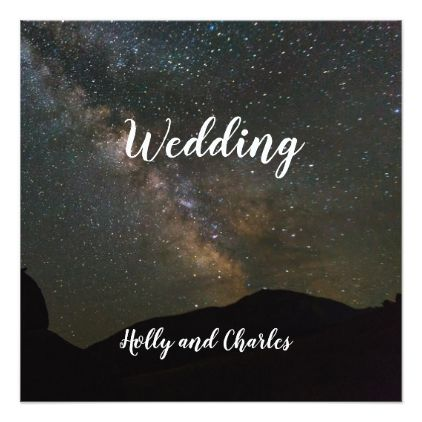 Wedding Invitation. Milky Way and the Cosmos. Card - marriage invitations wedding party cards invitation