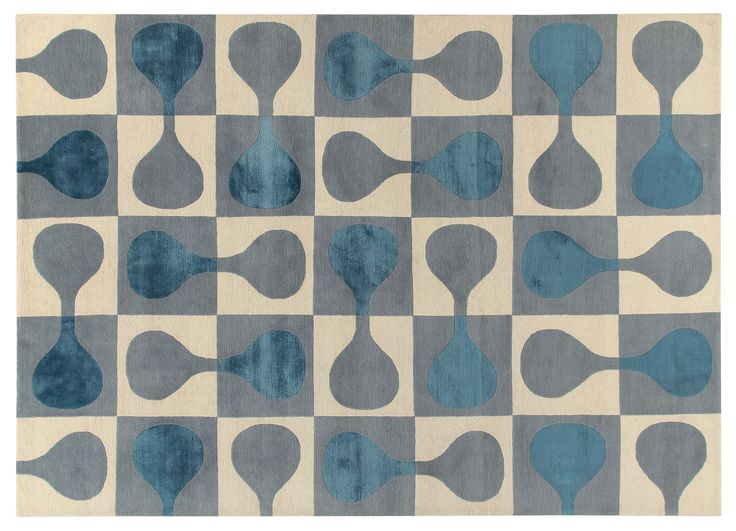 Sorrento Rug Gio Ponti Carpet Collection Handknotted in Nepal by AMINI Tibetan Wool and natural Silk 250x300cm