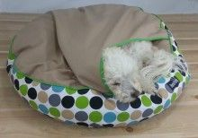 Pet snug inside his Delux Snug pet bed pouch