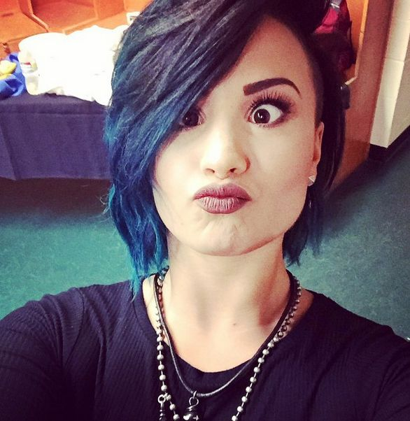 Demi Lovato's Hair with a Shaved Side