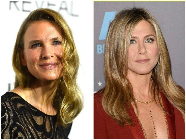 25Fotografías defamosos que tienen lamisma edad (aunque noloparezca)Renee Zellweger y Jennifer Aniston — 46 años