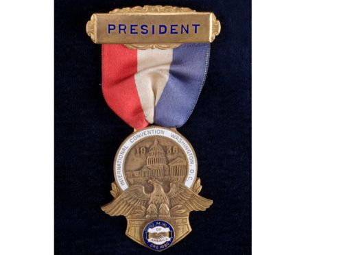 John L. Lewis, one of America's foremost labor leaders, wore this badge at the 1936 United Mine Workers of America convention. On the blog, more on the making of #LaborDay.
