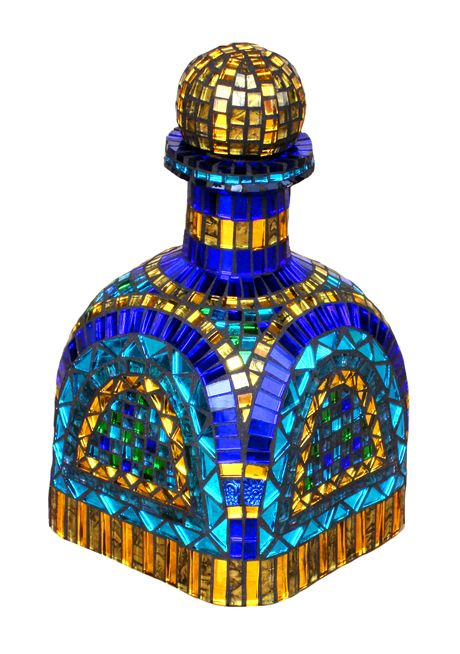 Botella tequila mosaico con patron